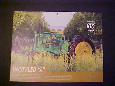 "1932,1933,1934,1935,1936,1937,1938 John Deere ""Unstyled A"" NOS calendar photo"