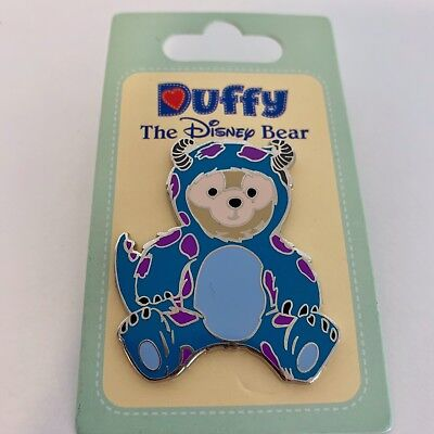 Disney Disneyland Halloween Duffy Bear in Sully Sulley Costume Monsters Inc Pin