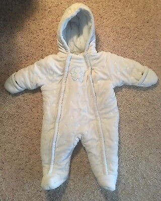 f508a0410 Absorba Baby Bunting Snow Suit Coat Infant Blue Fleece Hooded 9 Months Mo  Winter