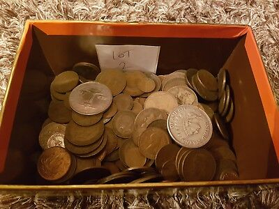 Job Lot Of Old Coins Including 2 American Copy Coins - Lot 2