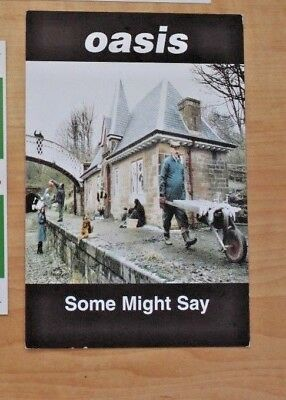 OASIS: Some Might Say Promotional Postcard - MINT RARE