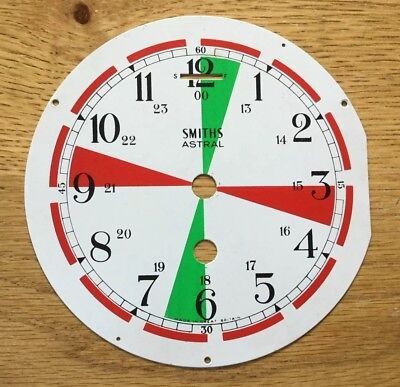 Smiths Ships Radio Room Clock Face - Non Transmitter Periods Marked
