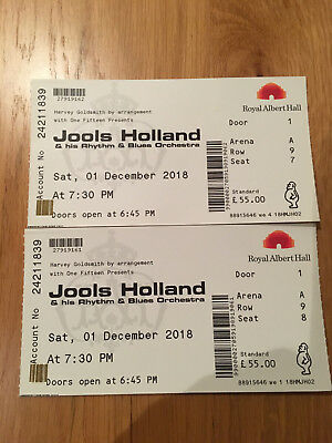 jools Holland and his blues orchestra concert tickets X2