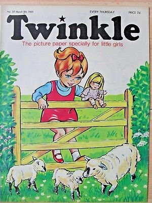 TWINKLE COMIC - 8th MARCH 1969 (8th - 14th) - RARE 50th BIRTHDAY GIFT!!