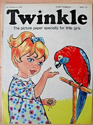 TWINKLE COMIC - 1st MARCH 1969 (1st - 7th) - RARE 50th BIRTHDAY GIFT!!