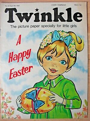 TWINKLE COMIC - 5th APRIL 1969 (5th - 11th) - RARE 50th BIRTHDAY GIFT!! EASTER