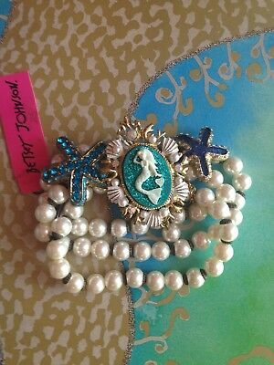 NWT Betsey Johnson Under The Sea Mermaid Charm Bracelet