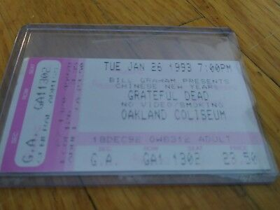 Grateful Dead Ticket, Oakland, Chinese New Years, 01/26/1993
