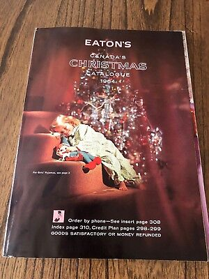 1964 Eaton's Christmas Catalog (Like New!) Gordie Howe Pages!