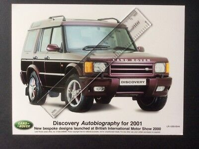 LAND ROVER DISCOVERY AUTOBIOGRAPHY 2001 ORIGINAL COLOUR PRESS PHOTOGRAPHS x 2