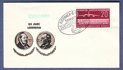 DDR, 1958, Brief, Bahnpost