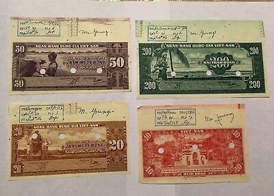 4 Engraver's Proofs, 1956, Security Banknote Company, Ngan-Hang Quoc-Gia