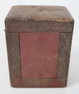 19THC Antique French Original Leather Carriage Clock Outer Protection Carry Case