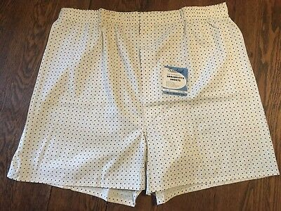 Vtg 50's NOS Men's Cotton Sanforized Boxer Shorts Snap Front Fly 42