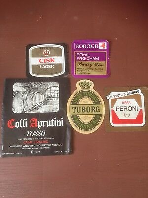 Vintage Wine & Beer Labels Circa 1976