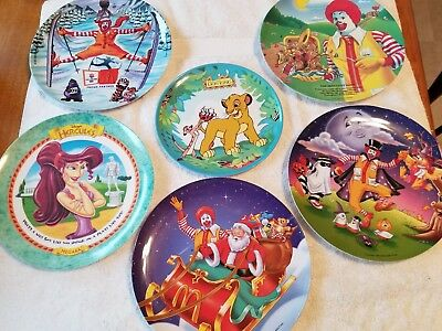 Vintage lot of  5 McDonalds Plates 1989 and 1997
