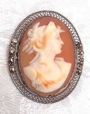 BEAUTIFUL Antique Hand Carved Shell Cameo