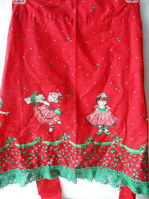 Patty Reed Laurie Campbell Apron Sweet Ballet Christmas 2004 Handmade Crochet