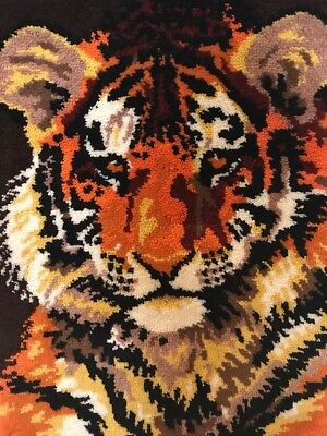 Tiger rug wall hanging 3 ft by 4 ft