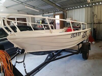 3.4m Tinny and 10hp Mariner outboard