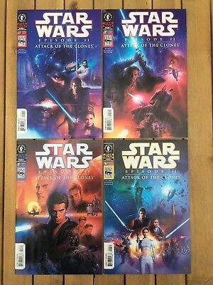 Star Wars 'Attack Of The Clones' Movie Adaptation Comics (complete set of 4)