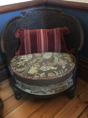 Wicker Backed Round Armchair