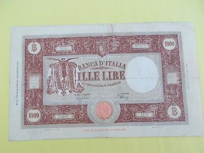 1943 Italy 1000 Lire banknote