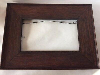 Antique Arts And Crafts Mission Style Oak Picture Frame