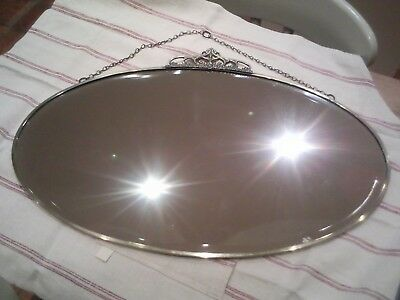 1930s Oval Mirror
