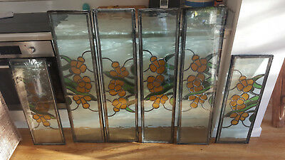 1930s stained glass leaded double glazed units