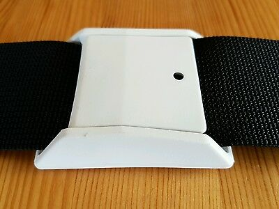 2 x 50mmCAMLOC BUCKLES for Webbing, WHITE PLASTIC