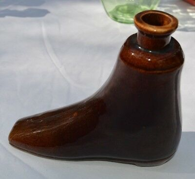 Figural Boot Flask Victorian
