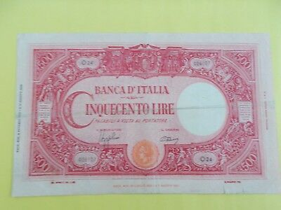 1943 Italy 500 Lire banknote