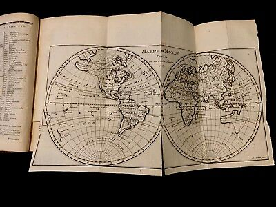 1770 PORTABLE GEOGRAPHICAL DICTIONARY including mapamundi and Europe maps