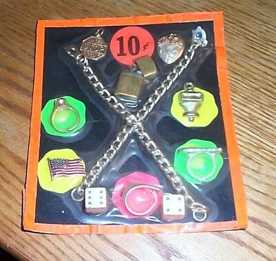 Vintage display card 10c rings charms toys [lighter] FREE SHIPPING #z12