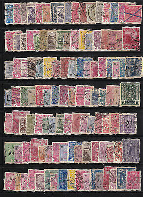 Austria perfins on a stockpage. Nice grouping of stamps!