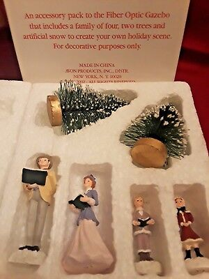 2002 Avon Christmas Family Singers Figurines for Fiber Optic Gazebo