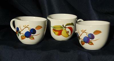 Royal Worcester Evesham and Evesham Vale Cups  x 3 one dated 1961