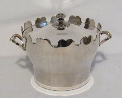 Christofle France Ice Bucket Container Silver Plate ~ 3 Pieces ~ Clean No Flaws