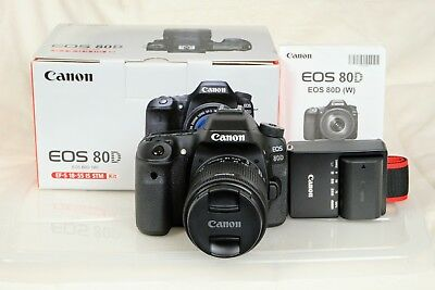 Canon EOS 80D Camera Kit with EF-S 18-5 IS STM Lens and EOS Accessory Bundle