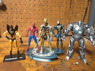 "Marvel universe Lot. ironman spiderman yellow jacket 3.75"" Figures."