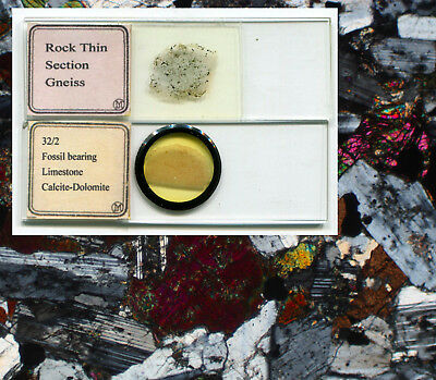 2 Möller Mineral Thin-Section Microscope Slides