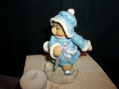 Cherished Teddies Girl Bear Ice Skating Figurine Candace 1997 by P. Hillman