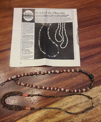 (2) Genuine Mummy Bead Necklaces (modern restrung) with old COA 2000-5000 yrs ol