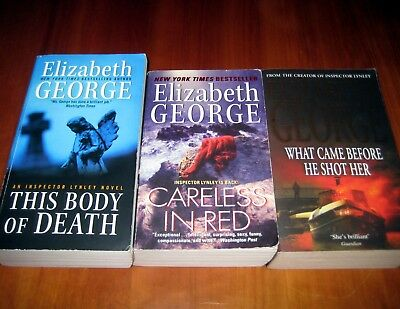 Lot of 3 Elizabeth George books about Inspector Lynley, PB, pre-owned