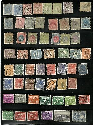Lot of 115 EARLY ISSUE NETHERLANDS Stamps, all different