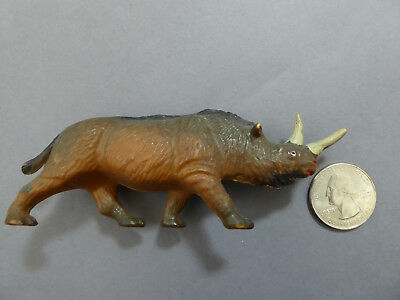 RARE Starlux Woolly Rhino Prehistoric Animal Figure Dinosaur Collectible 1960s