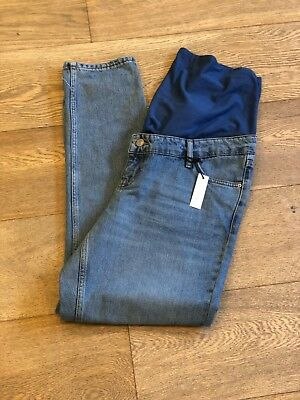 NWT Top Shop Maternity Straight Leg Jeans Size 12 Over the belly