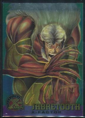 1995 X-Men Ultra All-Chromium Trading Card #18 Sabretooth