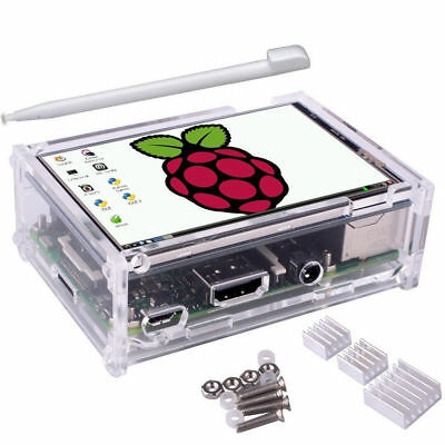 """3.5"""" Inch LCD Touch Screen Display 480x320 Raspberry Pi 2/3+Clear Case + Pen"""
